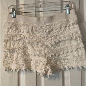 express pull on ruffle shorts